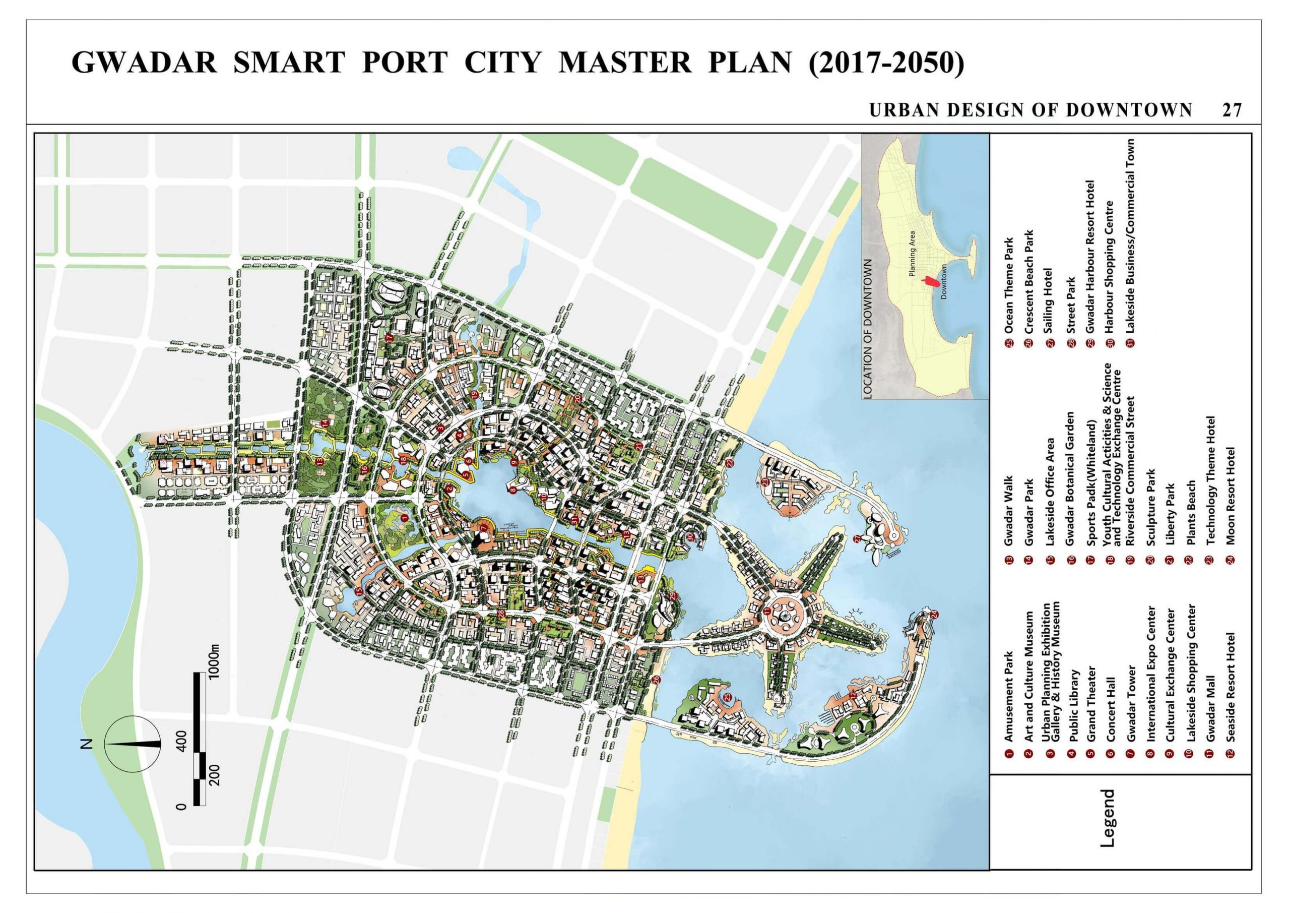 Gwadar smart city plan with map